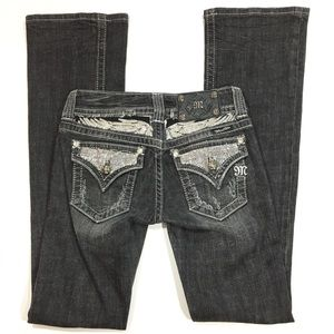 Miss Me Jeans Boot Cut Embellished Dark Gray 25